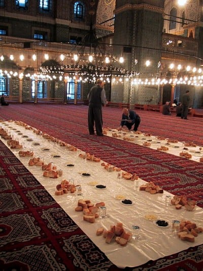 Iftar (Source: Istanbul Eats' post on where to find the best iftar meal in the city.)