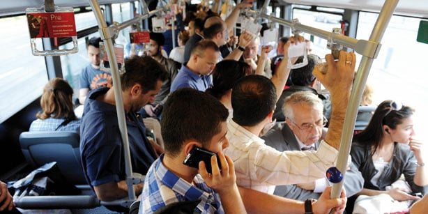 The metrobus can be crowded, so have those elbows ready if you want to get a seat!