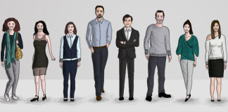 A drawing of Kerem Siral and his team at Minimal Group.