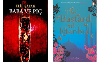 Elif Safak book covers Baba ve Pic and The Bastard of Istanbul 2