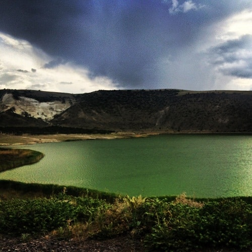 The emerald green lake found while exploring Cappadocia by car (Source: E. Turner)