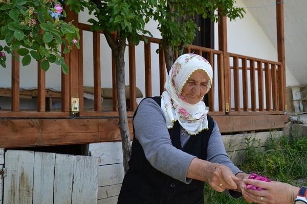 One of the locals in Yeşilce (Source: Z. Güven)