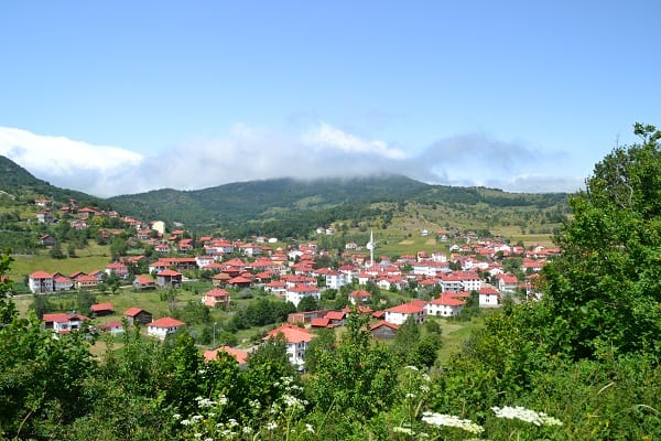 A panoramic shot of Yeşilce village outside of Ordu