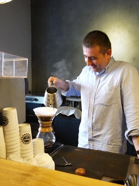 Volkan Becerik, Owner and Head Barista of At Origin Coffee (Source: K. Tanita)