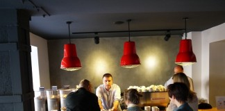 At Origin Coffee in Istanbul