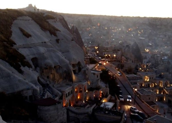 The twinkling town of Cappadocias Göreme Source: T. Anjarwalla
